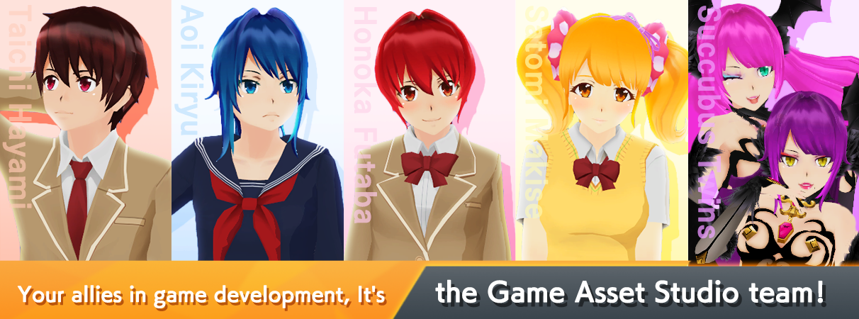 Your allies in game development, It's the Game Asset Studio team!
