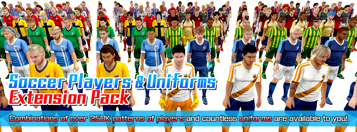 Soccer Players & Uniforms Extension Pack